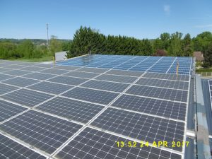 Panneaux solaires à l'eau pure SOLARWASH Avant - Apres